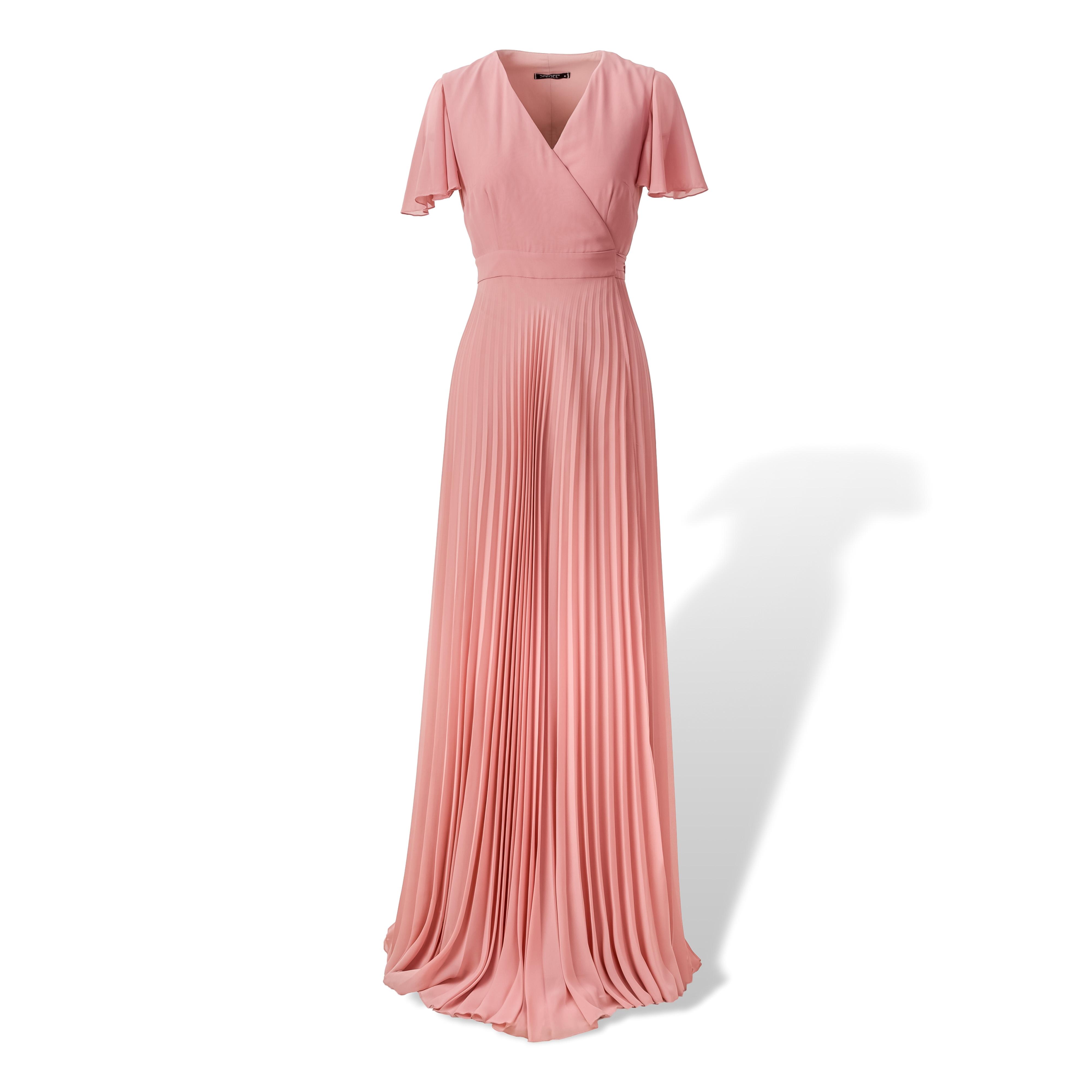 Maxi φόρεμα Κρουαζέ Πλισέ image
