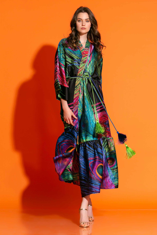 Κιμονό Φόρεμα Σε Εμπριμέ Σατέν image