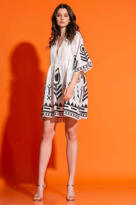 Μίνι Φόρεμα Σε Εμπριμέ Βουάλ image