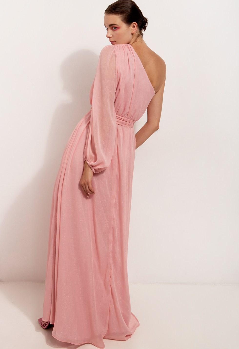 Μάξι φόρεμα με ένα μανίκι image