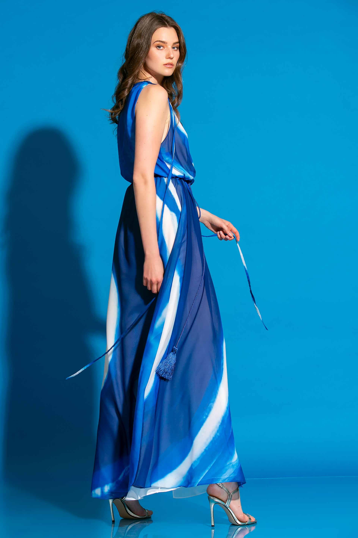 Εμπριμέ Κρουαζέ Μακρύ Φόρεμα image