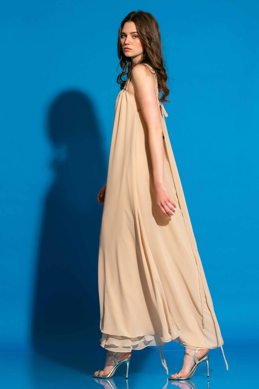 Σιφόν Μακρύ Φόρεμα Με Τιράντες image