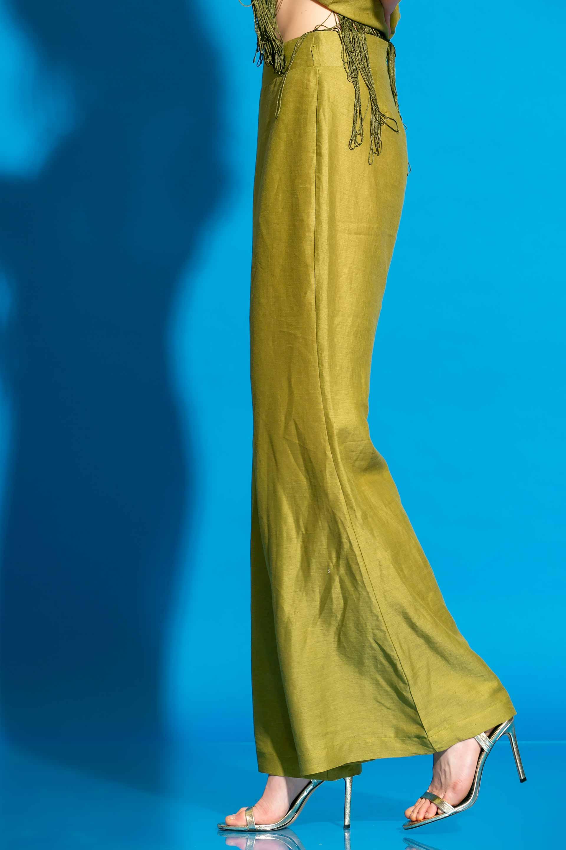 Λινό Μακρύ Παντελόνι Καμπάνα image